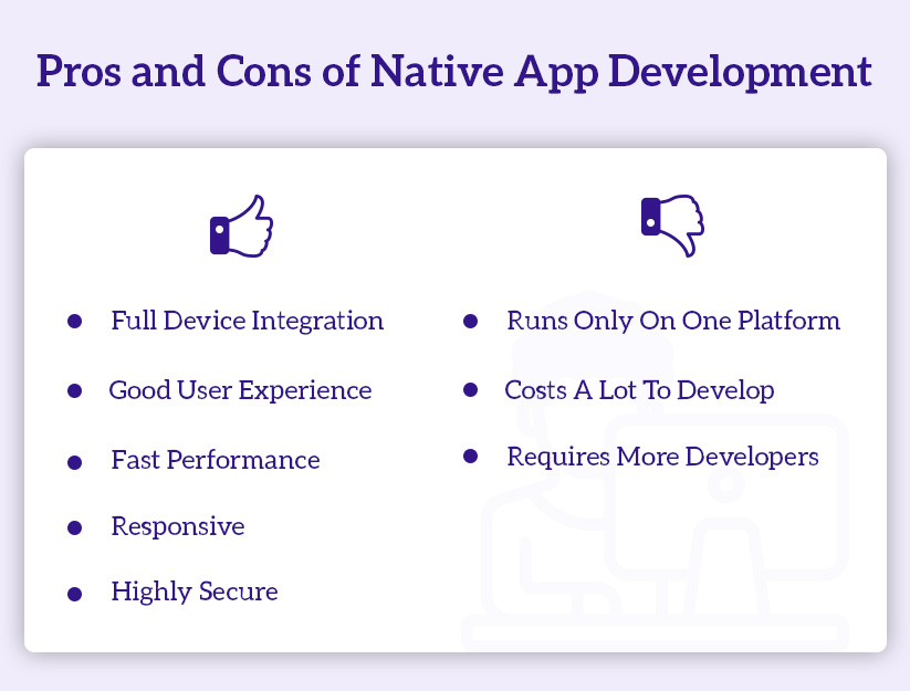Native app pros and cons