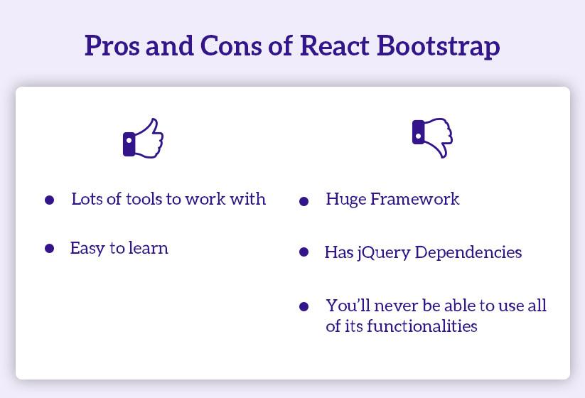 React bootstratp pro & con