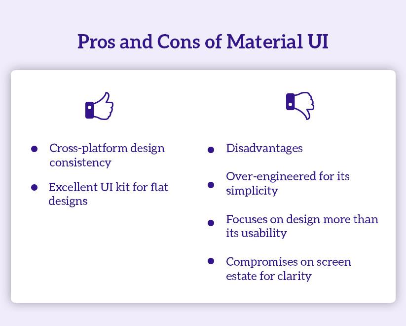 Material UI pro & con