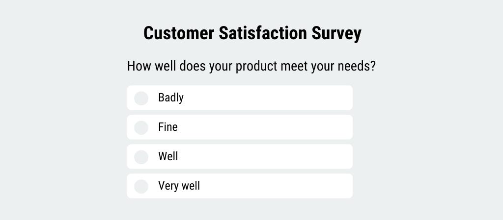 Market Research Customer Satisfaction Survey